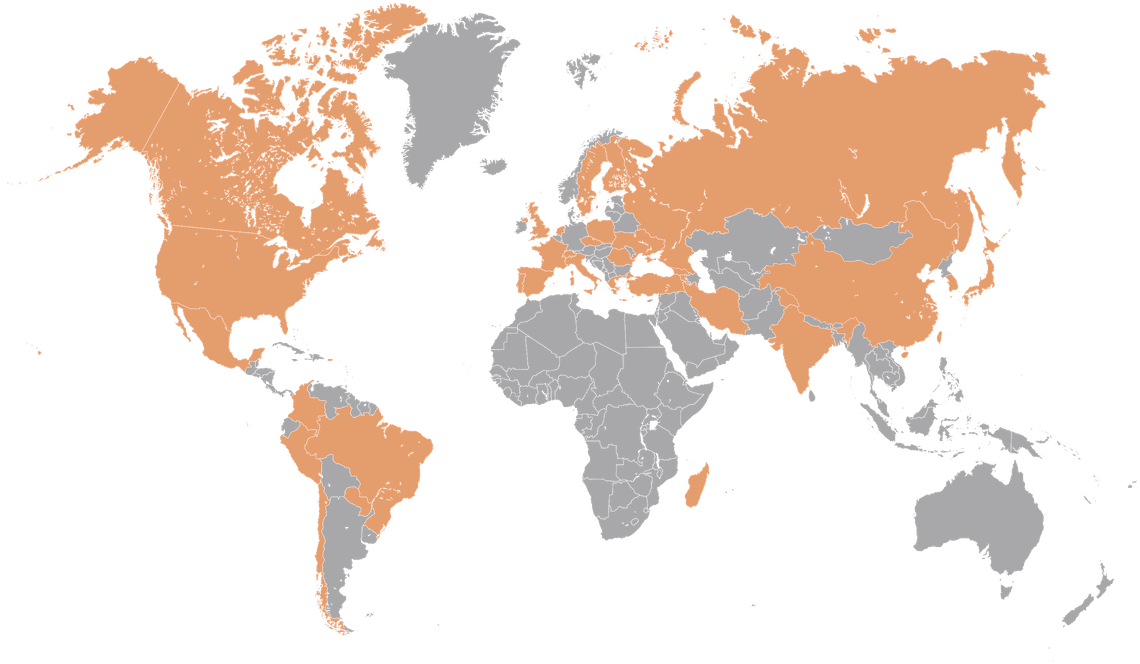 The DUNE collaboration comprises more than 1,000 collaborators from over 180 institutions in over 30 countries plus CERN.