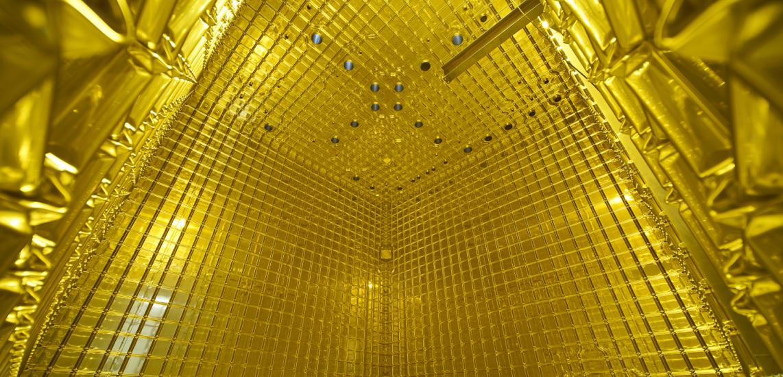 Interior of the ProtoDUNE detector at CERN.